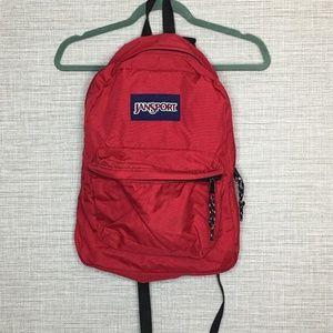 "Jansport Red 17"" Canvas Backpack"
